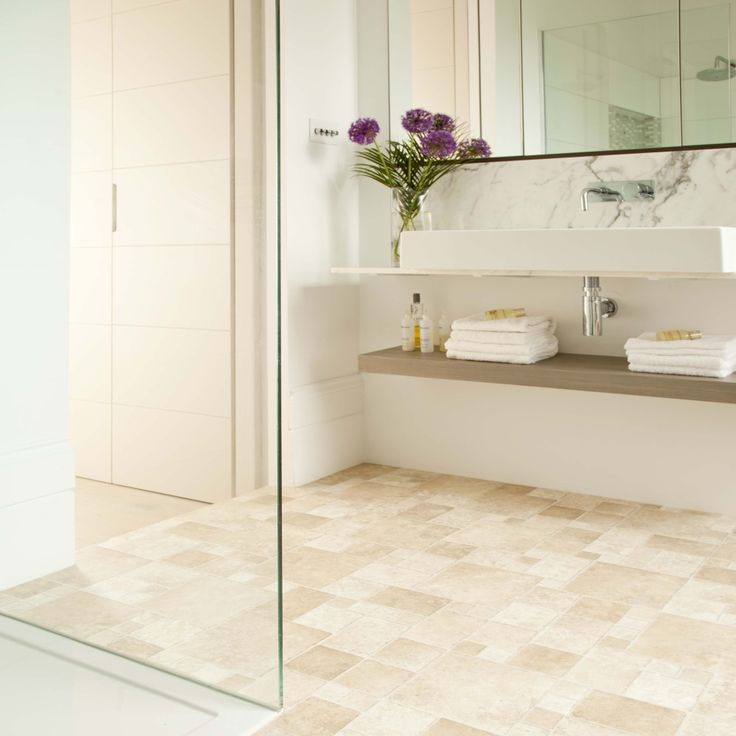 Create the illusion of space in a small bathroom with mirrored surfaces and adding as much natural light as possible #bathroom #interior #fresh #summer #look