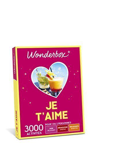 WONDERBOX – Coffret cadeau – JE T'AIME: Lancez-vous dans une maxi déclaration avec ce mini coffret cadeau rempli d'amour. De la sortie en…