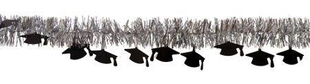 White Congrats Grad Graduation Decorations - Party City 9ft $.99