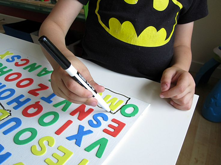 Easy to make 3D Word Search for kids. It's tactile and fun for new readers.