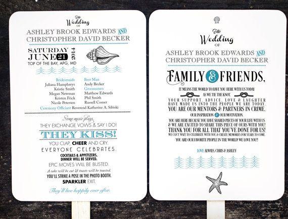 Unique Wedding Reception Program Ideas: Best 25+ Fan Wedding Programs Ideas Only On Pinterest