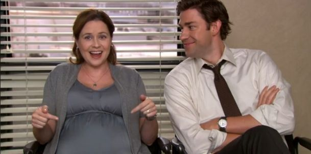 "Jenna Fischer's real-life pregnancy was not an issue with writers as they were already planning for Pam to get pregnant. | 23 Things You Might Not Know About ""The Office"""