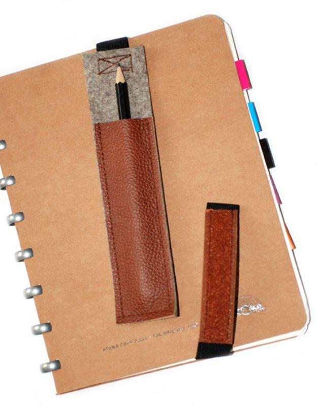 Federmäppchen - Stifte-Etui·☆·Lapicera·☆·Leder&Filz#1 - ein Designerstück von Chiquita-Jo bei DaWanda