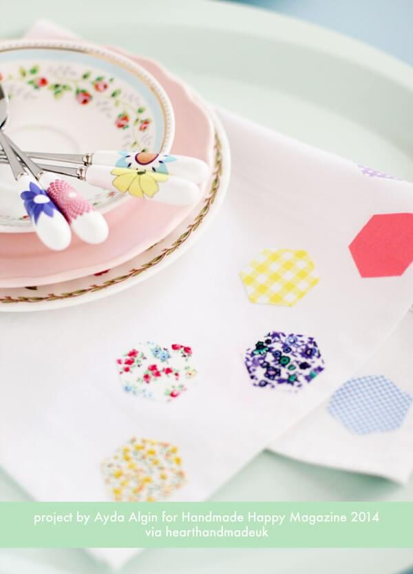 Simple mothers day crafts that you could even give as mothers day gifts! DIY crafts and DIY gifts are super popular and it's easy to see why. These gifts look so beautiful and would be a joy to receive! DIY Hexagon Tea Towel No Sew Project