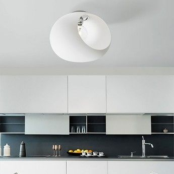 Nowoczesna lampa sufitowa z serii Ghost Bianco - producent Sforzin Illuminazione. #Sforzin_Illuminazione #Ghost_Bianco #lampa_sufitowa #nowoczesne_oświetlenie #lampy_do_kuchni #modne_lampy #modern #light #design #interior #abanet #abanet_kraków #abanet_lampy #lampy_kraków