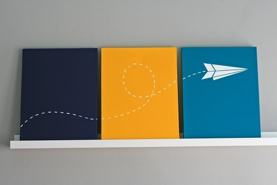 Paper Airplane, canvas: Airplane Bedroom, Kid Bedrooms, For Kids, Kids Bedroom, Nursery Art, Painting Inspirations, Kids Rooms, Baby Stuff