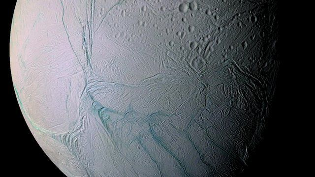 BBC News - Saturn's Enceladus moon hides 'great lake' of water