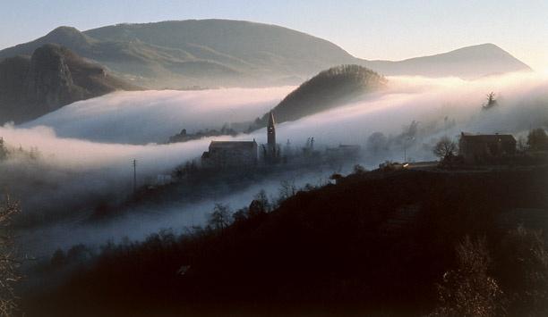 View of the Euganean Hills, Province of Padua, Veneto Region
