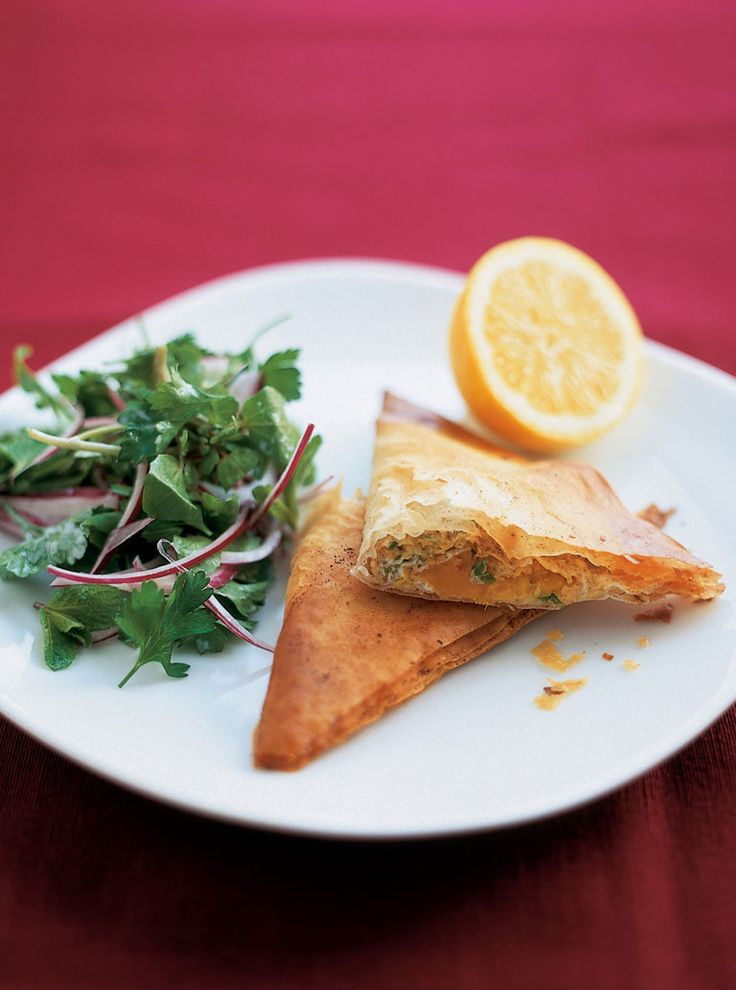 Tunisian brik - Phyllo with sweet potatoes @Jamie Oliver
