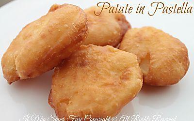 Patate in pastella fritte croccanti