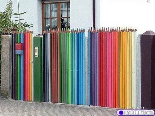 picket fence idea with GREAT color! :)