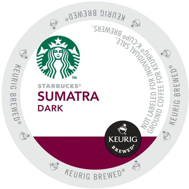 Starbucks Sumatra Coffee, Dark Roast with a full, buttery body - K-Cup Portion Pack for Keurig K-Cup Brewers