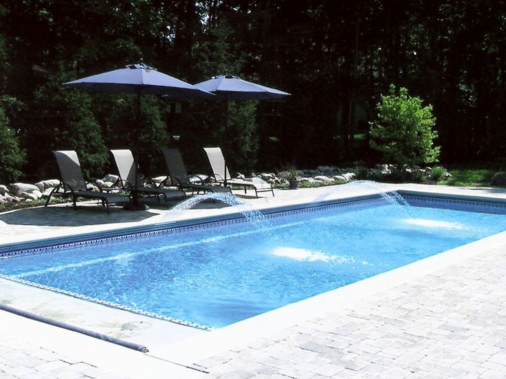 Viking Pools Rectangle Designs Fiberglass Pools