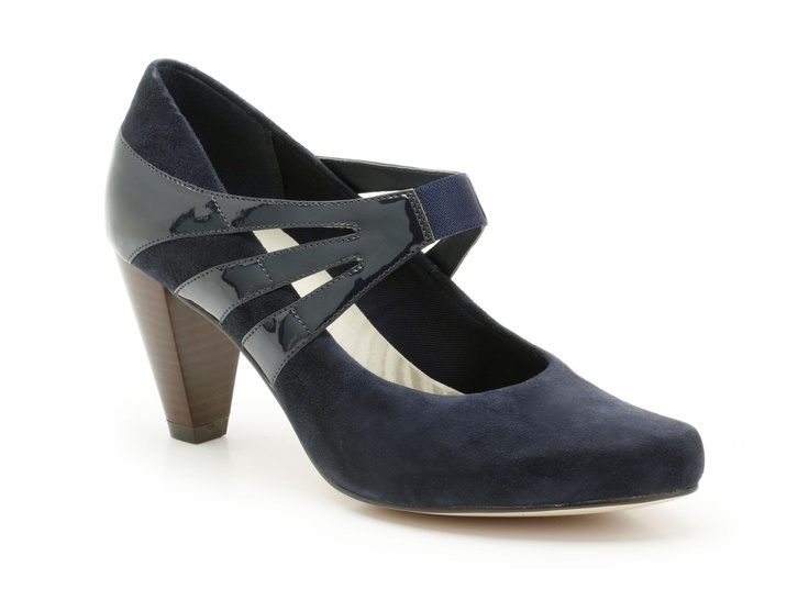 Womens Smart Shoes - Country House in Navy/Comb from Clarks shoes
