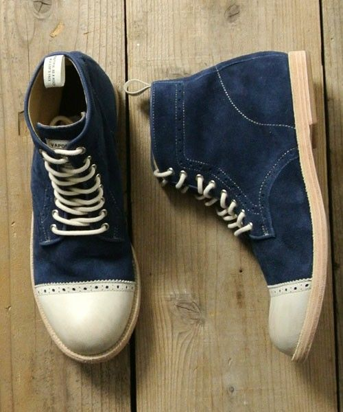 Blue Suede High Top Saddle Shoes? COOL!