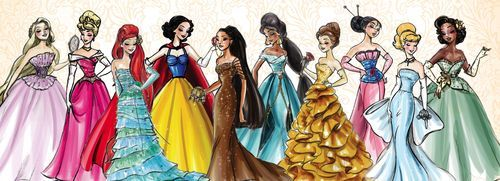 """Ilustrações da """"Disney Princess Designer Collection"""""""