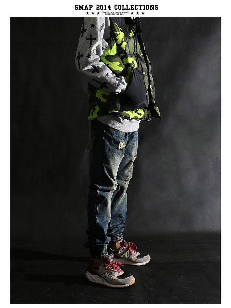 2014 mens calientes vaqueros de diseño famosa marca pantalones para hombre ropa de los muchachos flacos del dril de corredores mens jogger jeans hombres en Pantalones casuales de Moda y Complementos Hombre en AliExpress.com | Alibaba Group