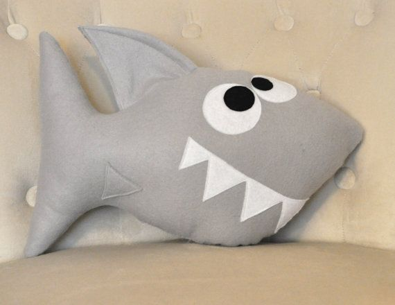 Shark Plush Pattern PDF Tutorial and Printable by bedbuggspatterns, $4.99