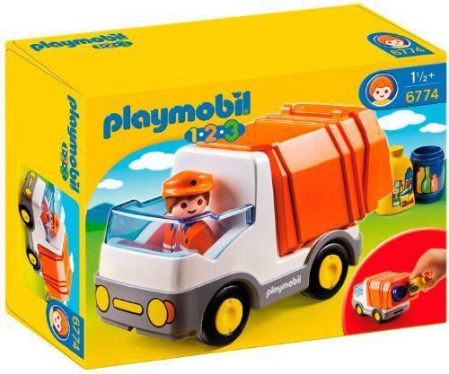 Playmobil - 6774 - Jeu de construction - Camion poubelle de Playmobil 1,2,3