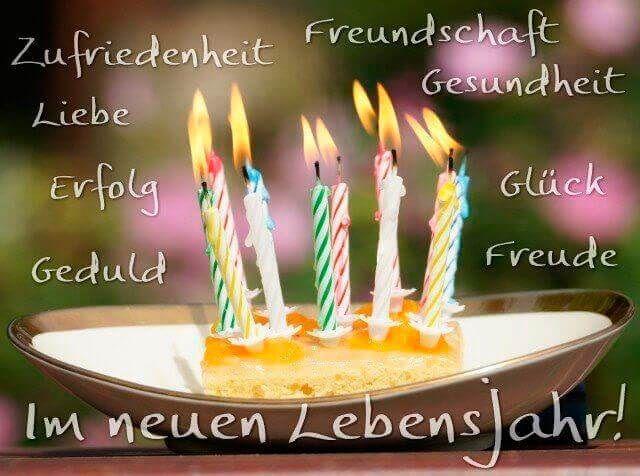 Открытка на день рождения на немецком языке. и с переводом