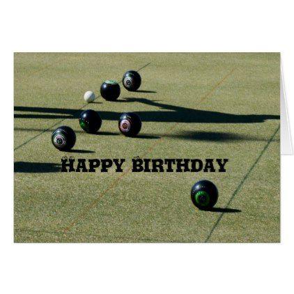 Lawn Bowls Close Call Birthday Card Birthday Cards Pinterest
