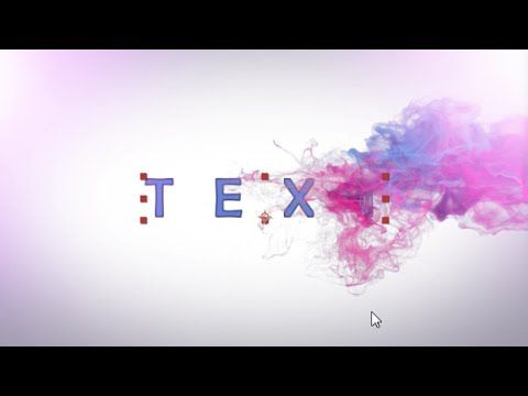 After effects Tutorial & free Projects : Smoke Text Effects
