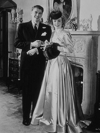 Ronald Reagan and first wife Jane Wyman on their wedding day January 26, 1940.