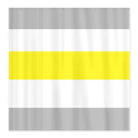 Gray Yellow Bold Stripe Shower Curtain For The Home Pinterest