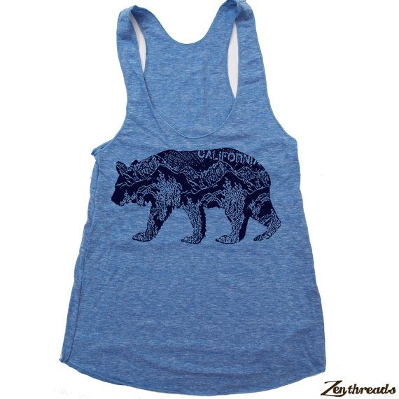 Size Medium. Zen Threads Custom Printed Womens Vintage Soft Tri-Blend Racerback Tank Top  A hand screen printed design in eco-friendly ink. Made in the USA. Hand