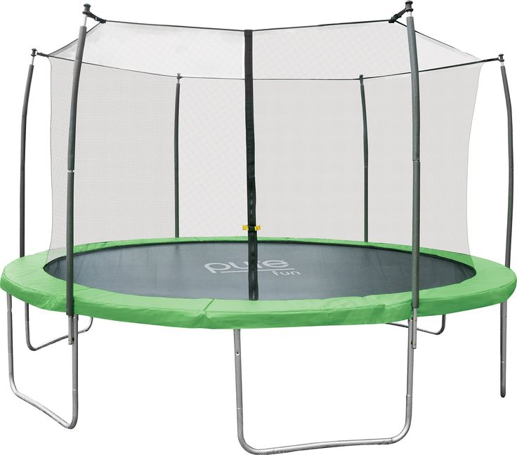 Awesome Pure Fun Dura Bounce Foot Outdoor Trampoline with Enclosure