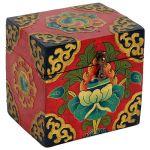 Cofanetto tibetano dipinto a mano