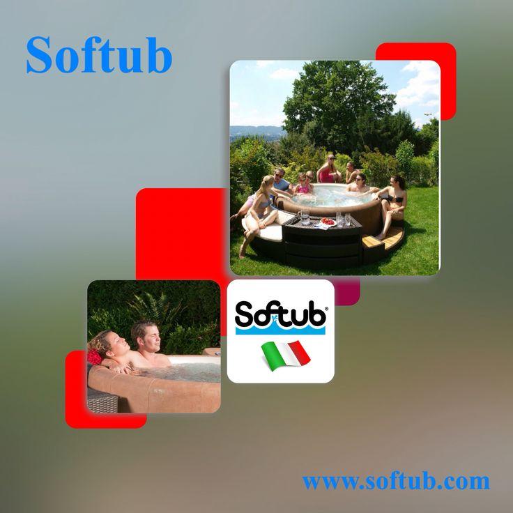 Un angolo di relax in giardino, #Softub realizza per te semplici e magnifiche ambientazioni! www.softub.it