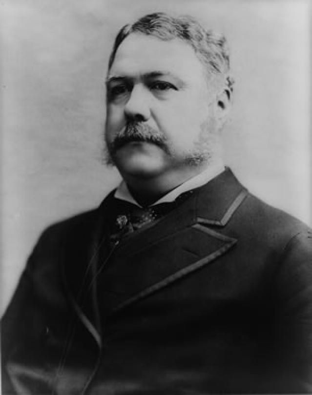 Chester A Arthur, Twenty-First President of the United States - Credit: Library of Congress, Prints and Photographs Division, LC-USZ62-13021 DLC