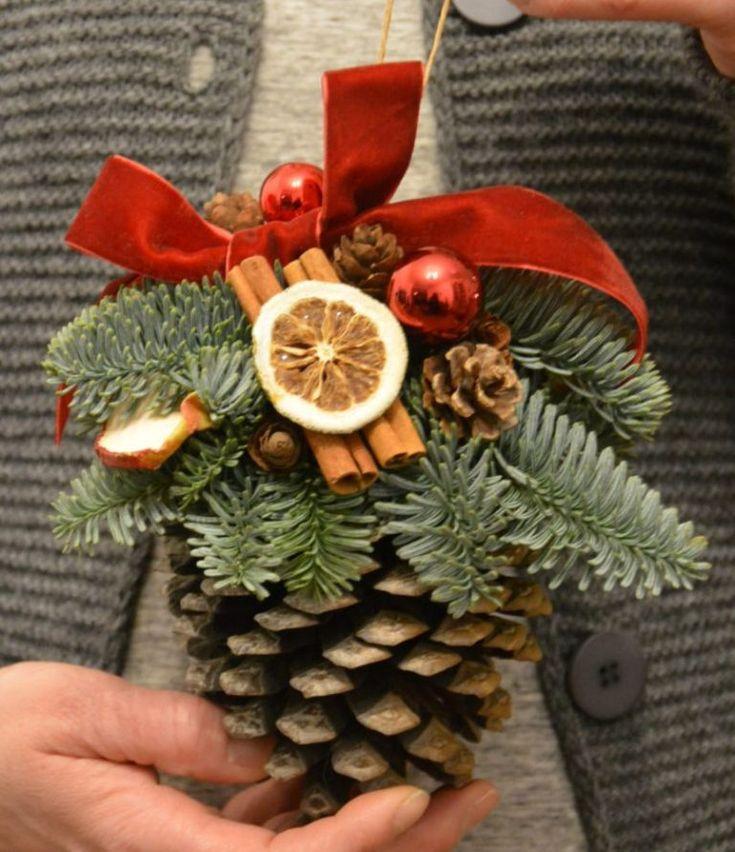 Adornos para el rbol de navidad con pi as de pino dale detalles all things christmas - Adornos navidad con pinas ...