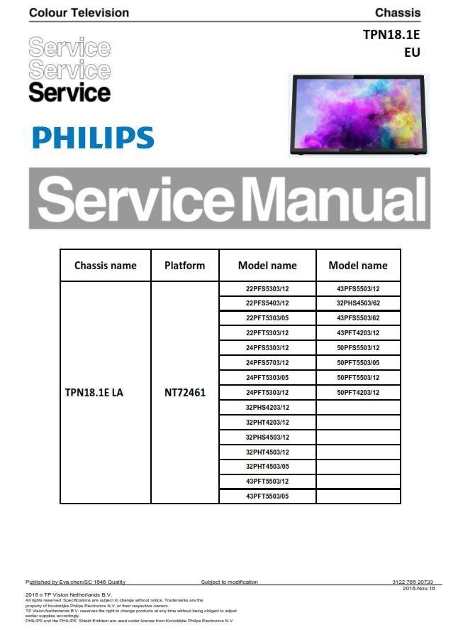 Tremendous Philips 22Pfs5403 32Pht4503 24Pfs5303 24Pft5703 22Pfs5303 Tv Service Wiring 101 Cranwise Assnl