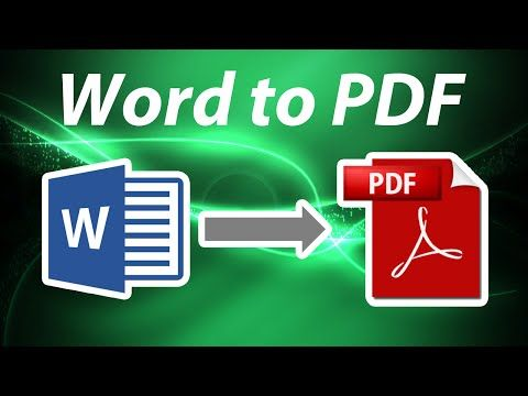 How To Convert Word Documents to PDF for Free - YouTube