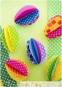 Украшаем дом к Пасхе: гирлянда из бумажных яиц