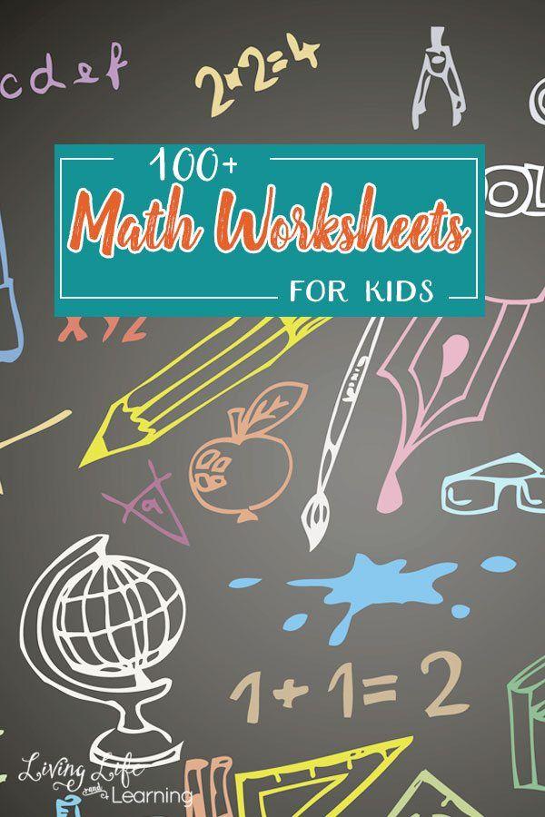 100+ FREE Printable Math Worksheets for Kids