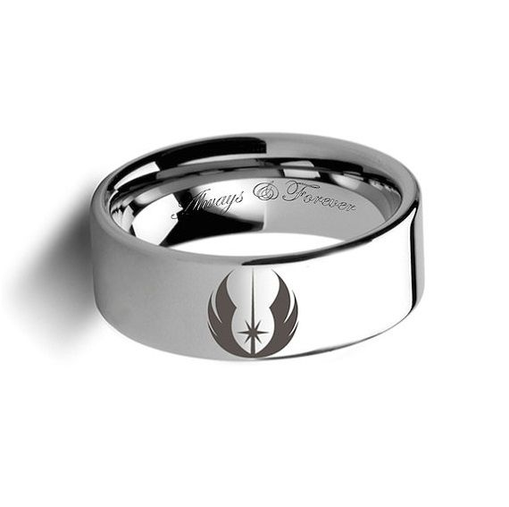 star wars inspired wedding rings - Jedi Order Symbol