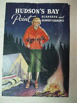 1930'S - 40 HUDSON'S BAY POINT BLANKETS COATS PANTS HAT SCARF CATALOG PHAMPHLET