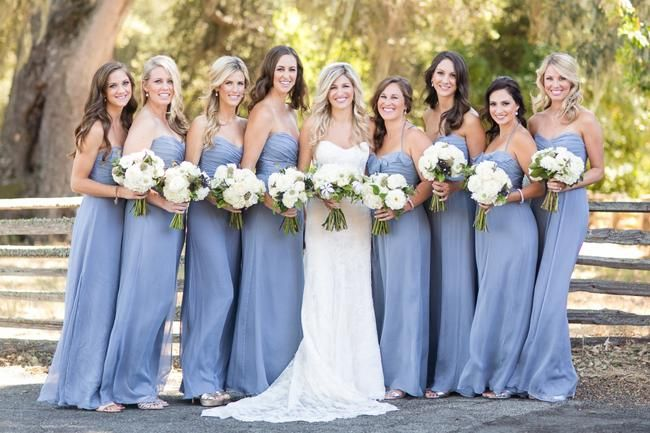 Pantone Serenity Bridesmaid Dresses - Weddbook                              …color