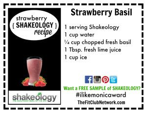 "STRAWBERRY SHAKEOLOGY RECIPE:: ""Strawberry Basil"" 