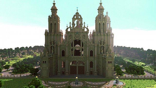 minecraft die mod sonic ether's unbelievable shaders castle | ... de Compostella Map for Minecraft | 9Minecraft | Minecraft Downloads