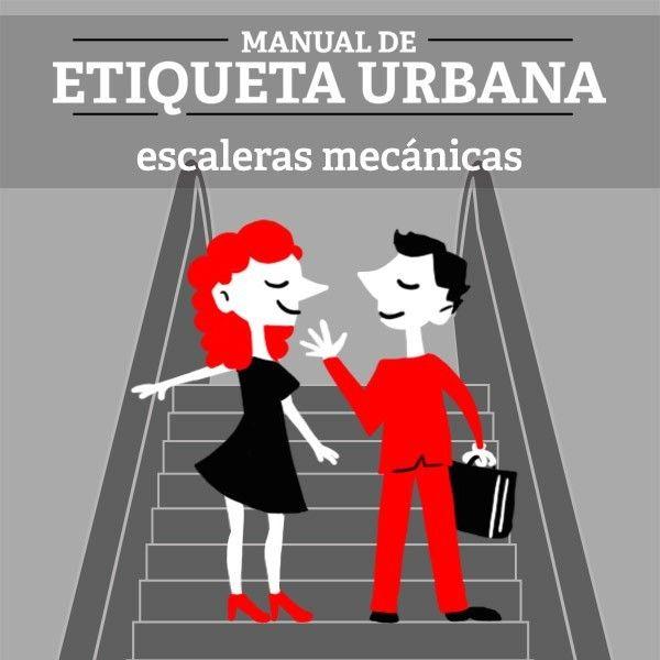 Infografía - Etiqueta Urbana: La escalera mecánica