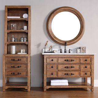 Infurniture 30 Inch Single Sink Rustic Bathroom Vanity With Ceramic Sinktop Brown Driftwood Size Vanities