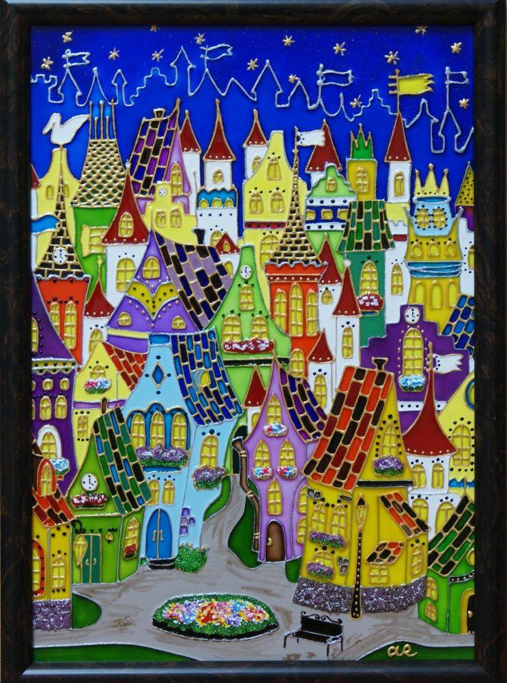 витражная роспись город - Поиск в Google