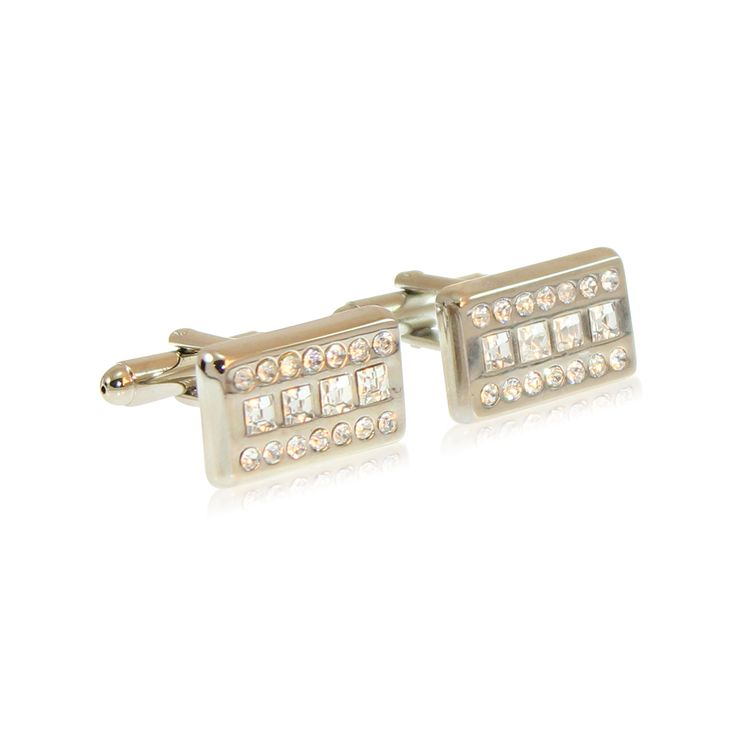 Our Boardroom Bling Silver cufflinks are made from solid brass with rhodium plating and in-set with CZ crystals.  The rhodium ensures a tarnish-free appearance unlike similar cufflinks made from nickel or sterling silver. The jewellery's brass construction and moulded fastening clasp will remain solid and firmly attached for the lifetime of your cufflinks. Expect to enjoy these for the next 20 years! http://www.byariane.com.au/Cufflinks-Boardroom-Bling-Silver