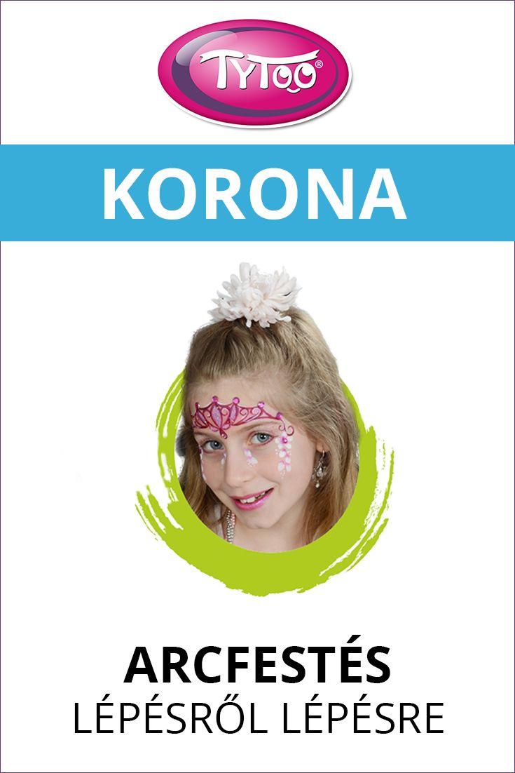 Arcfestés minták gyerekeknek: Korona