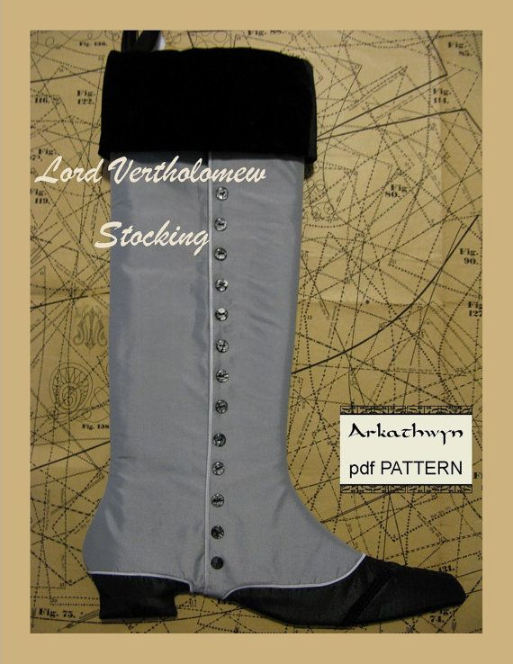 Men's Victorian Christmas Stocking PDF Pattern...Lord by arkathwyn, $7.95