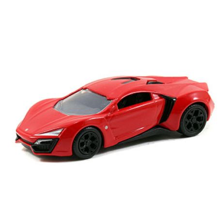 Jada Toys Fast and Furious 7 1:55 Scale Diecast Car - Red Lykan Hypersport